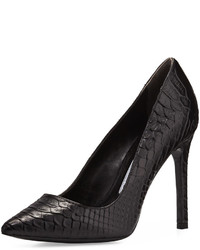 Charles David Caterina Snake Embossed Leather Pump Black