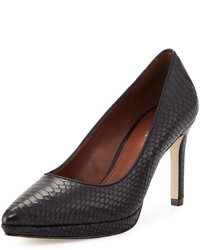 Cole Haan Idala Snake Embossed Leather Pump Black