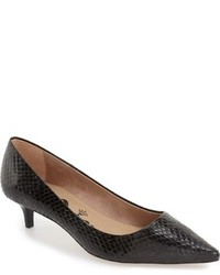 Nina Originals Jaunt Genuine Snakeskin Kitten Heel Pump