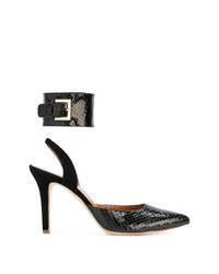 Via Roma 15 Snakeskin Effect Pumps