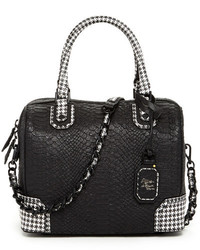 Alice + Olivia Olivia Drapey Snake Embossed Leather Satchel