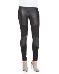 Ramy brook roman leather suede jersey pants medium 96433