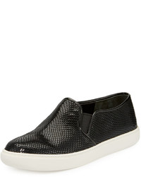 Cole Haan Jennica Snake Embossed Slip On Sneaker Black