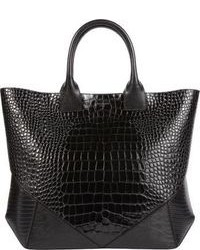 Givenchy Croc Stamped Easy Tote Black