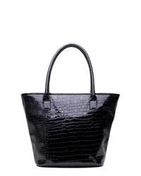 Soapbox Bags Vineyard Shopper Tote Black Croc Tote Handbags