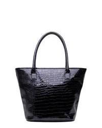 Soapbox Bags Vineyard Shopper Tote Black Croc Tote Handbags
