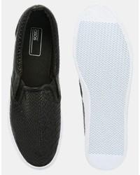 0b1ace88e51 Asos Slip On Sneakers In Black Snakeskin Effect, $30 | Asos ...