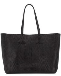Tom Ford Large Python T Tote Bag Black