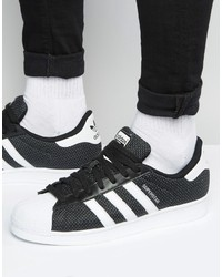 Love Adidas Stan Smith Super Ape Star Canvas Shoes Black Gold Mens Camo