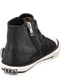 Ash Buckled Leather High Top Sneaker Toddler