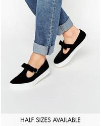 Asos Debbie Velvet Bow Sneakers