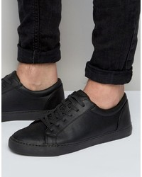 Asos Lace Up Sneakers In Black