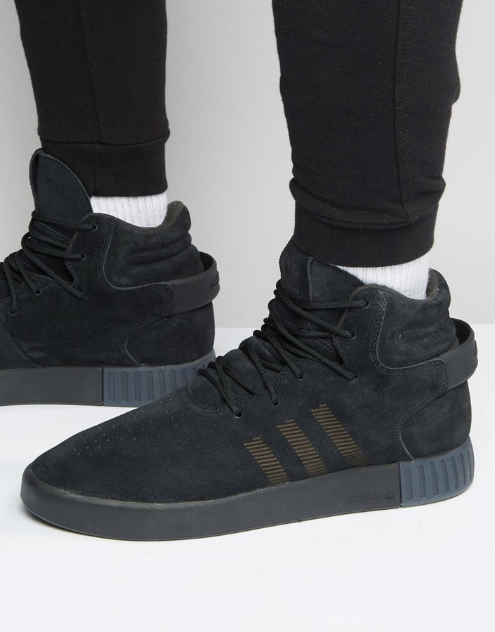 more photos fb76a f903e ... adidas Originals Tubular Invader Sneakers In Black S81797 ...