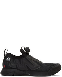 Vetements Ssense Black Reebok Edition Pump Supreme Sneakers