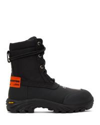 Heron Preston Black And Orange Security Boots