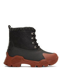 Mou Black Ntain Lace Up Boots