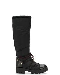 Emporio Armani Ridged Sole Boots