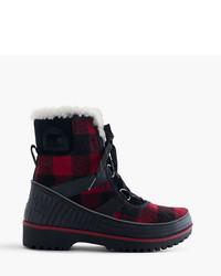 J.Crew Sorel For Tivolitm Boots In Buffalo Check