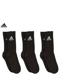 adidas 3 Pack Of Cotton Crew Socks