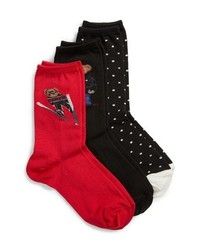 Ralph Lauren 3 Pack Winter Bears Socks