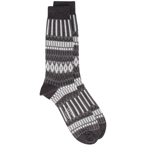 Ayame Ayam Grey And White Lunch Patterned Socks