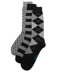The Tie Bar Black Basic 3 Pack Socks