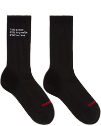 Vetements Black Composition Socks