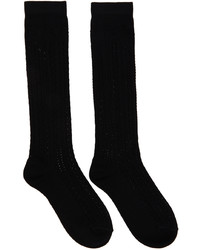 Fendi Black Cotton Macram Socks
