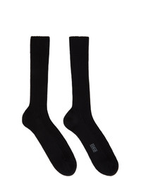 Tom Ford Black Cotton Ribbed Short Socks