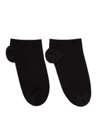 Wolford Black Cotton Sneaker Socks