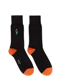 Paul Smith Black Embroidered Climber Socks