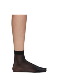 Wolford Black Individual 10 Ankle High Socks