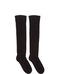Rick Owens Black Knee High Larry Socks