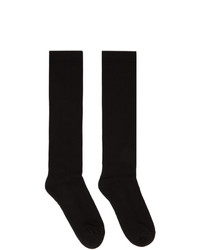 Rick Owens Black Logo Crew Socks