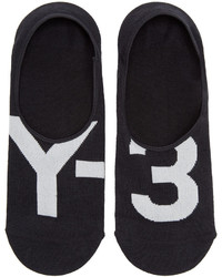 Y-3 Black Logo No Show Socks