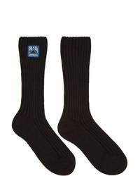 Prada Black Logo Socks