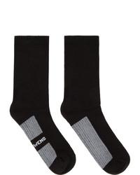 Rick Owens Black Logo Socks