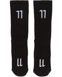 11 By Boris Bidjan Saberi Black Logo Socks