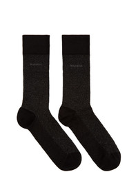 BOSS Black Mercerized Mini Pattern Socks