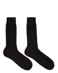 Ermenegildo Zegna Black Oxford Summer Socks