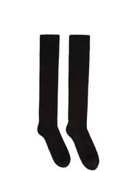 Rick Owens Black Performa Fw20 Knee High Socks