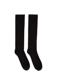 Rick Owens Black Performa Fw20 Mid Calf Socks