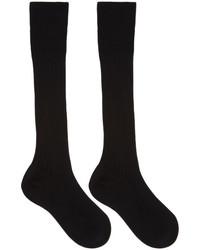 Prada Black Ribbed Socks