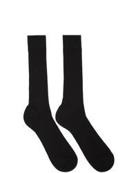 Ermenegildo Zegna Black Scottish Rib Socks