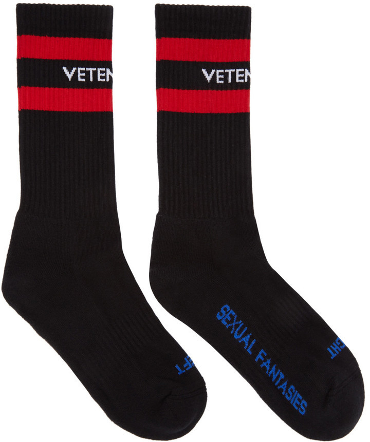 Vetements Black Sexual Fantasies Socks