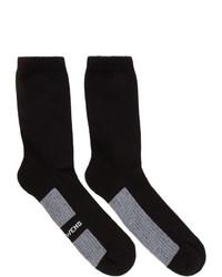 Rick Owens Black Stripe Short Socks