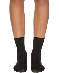 Wolford Black Velvet 66 Socks