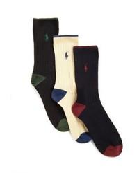 Ralph Lauren Boys Three Pair Dress Socks