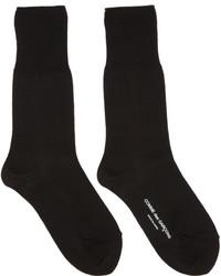 Comme des Garcons Comme Des Garons Black Long Jersey Socks