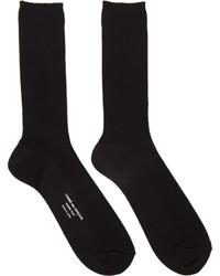 Comme des Garcons Comme Des Garons Homme Plus Black Basic Rib Socks